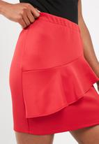 dailyfriday - Ruffle frill mini skirt