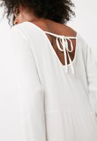 dailyfriday - Split front tunic blouse