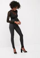 dailyfriday - Mesh inset bodysuit with long sleeves