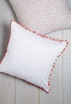 Sixth Floor - Pom pom scatter cushion