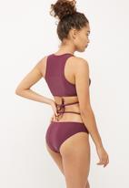 Missguided - Deep plunge wrap around bikini set
