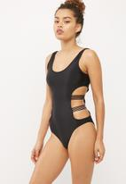 Missguided - Mesh cut out swimsuit