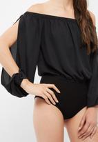 dailyfriday - Off shoulder twofer bodysuit