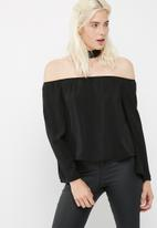 Missguided - Choker bardot blouse