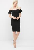 Missguided - Bardot bodycon midi dress