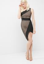 Missguided - One shoulder fishnet asymmetric bandage dress