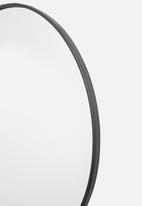 Sixth Floor - Iron round mirror - large 70cm dia
