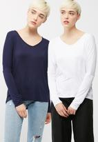 dailyfriday - V neck knit 2 pack
