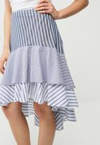 dailyfriday - Tiered stripe skirt