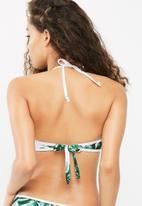 South Beach  - Palm print zip bikini top