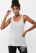 Superdry. - Vintage logo emboss vest