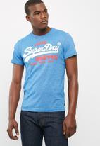 Superdry. - Vintage logo duo tee
