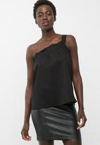 dailyfriday - One shoulder poplin blouse