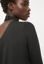 dailyfriday - One shoulder choker blouse
