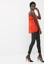 dailyfriday - Ruffle cut away cami top