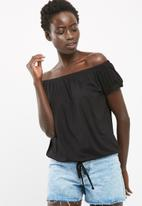 dailyfriday - Off the shoulder drawcord top
