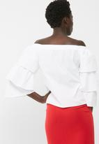 dailyfriday - Off the shoulder poplin blouse