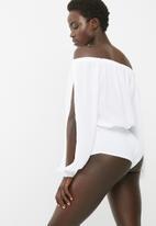 dailyfriday - Off the shoulder twofer bodysuit