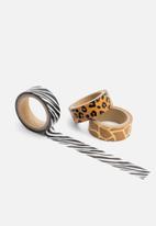 Luckies UK - Wild tape zebra
