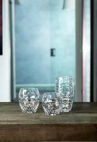 Luigi Bormioli - Facet glass set of 4