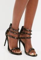 Missguided - Metallic leopard strappy heel