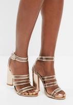Missguided - Clear multi strap block heel