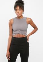 Missguided - Cut out front yoga top