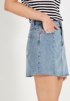 Cotton On - A line mini panelled denim skirt