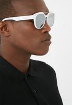 Lundun - Mirror lens sunglasses - white