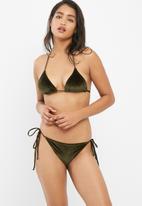 Bacon Bikinis - String velvet bikini top