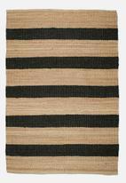 Sixth Floor - Jet jute stripe rug
