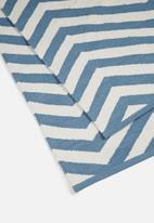 Sixth Floor - Blue step rug