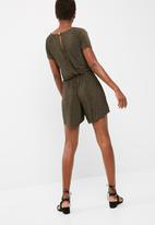 dailyfriday - Crushed knit playsuit