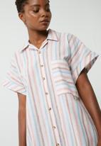 dailyfriday - Turn up sleeve shirt dress