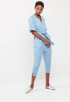 dailyfriday - Notch neck jumpsuit