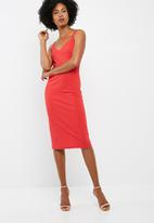 dailyfriday - Midi double strap bodycon dress