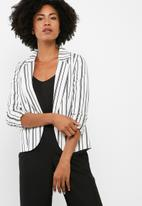 dailyfriday - Stripe sateen suit jacket