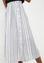 dailyfriday - Stripe button through midi skirt