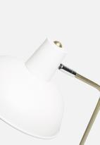 Present Time - Hood desk lamp - metal matt white