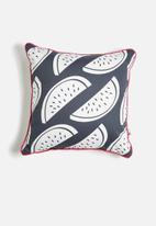 Sixth Floor - Melon-choly printed cushion