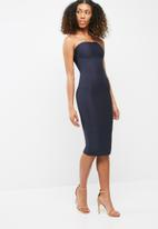 Missguided - Strapless bandage bodycon midi