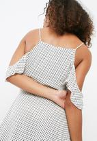 Missguided - Polka dot tea dress