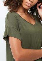 dailyfriday - V-neck t-shirt dress