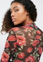 Missguided - Floral mesh bodysuit