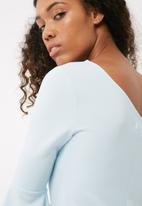 dailyfriday - Bell sleeve one shoulder bodycon