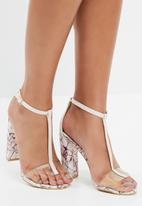 Missguided - Marbled t-bar sandal