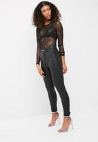 Missguided - All over star mesh bodysuit
