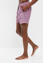 basicthread - Pink leo print swimshort