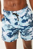 basicthread - Blue camo swimshort