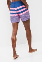 basicthread - Pink & blue stripe swimshort